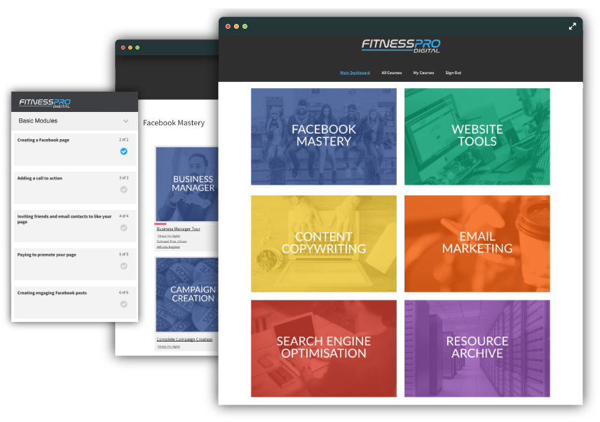 Fitness website design build your fitness business fitness pro fitness marketing academy malvernweather Images